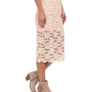 Free People Lace Pencil Skirt NWT